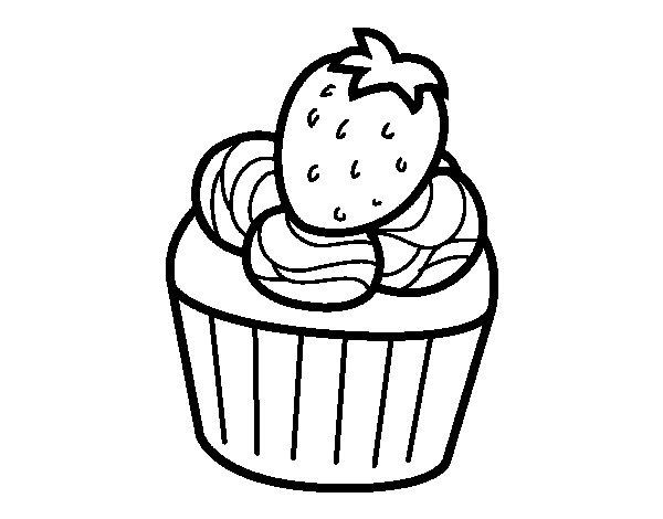 Dibujo de Bombón de fresa para Colorear