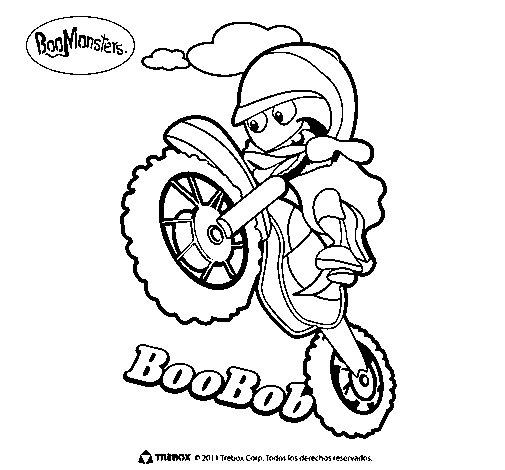 Dibujo de BooBob para Colorear