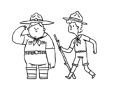 Dibujo de Boy Scouts para colorear