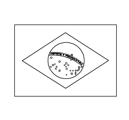 Dibujo de Brasil para Colorear