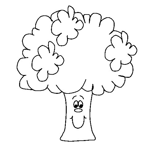 Dibujo de Brócoli 2 para Colorear