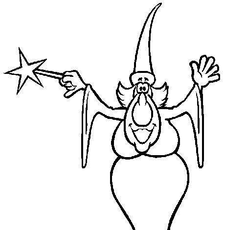 Dibujo de Bruja haciendo un conjuro para Colorear  Dibujosnet