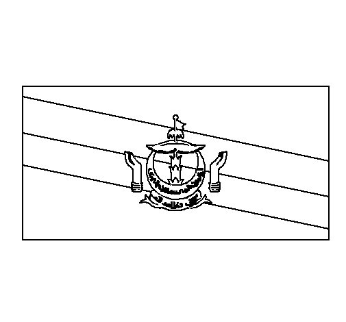 Dibujo de Brunéi para Colorear