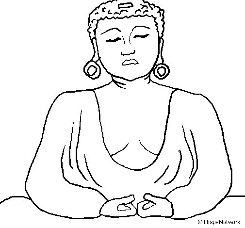 Dibujo de Buda para Colorear