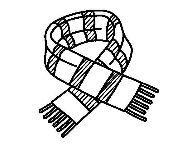 Dibujo de Bufanda de rayas para Colorear  Dibujosnet