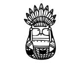 Dibujo de Búho indio jefe para colorear