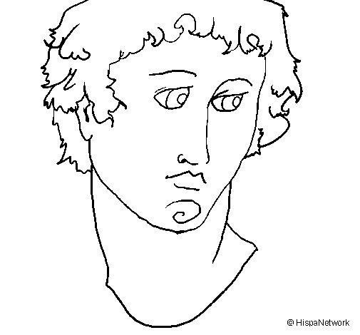 Dibujo de Busto de Alejandro Magno para Colorear