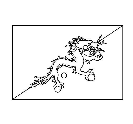 Dibujo de Bután para Colorear