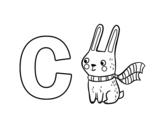 Dibujo de C de Conejo