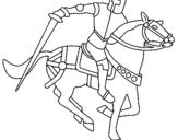 Dibujo de Caballero a caballo IV para colorear