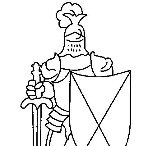 Dibujo de Caballero de la corte para Colorear