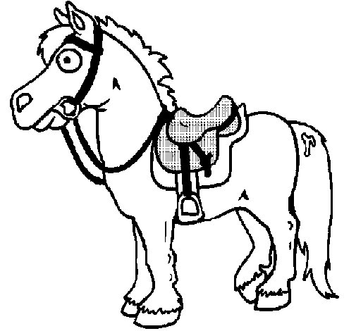Dibujo de Caballo 3 para Colorear  Dibujosnet