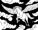 Dibujo de Caballo alado para colorear