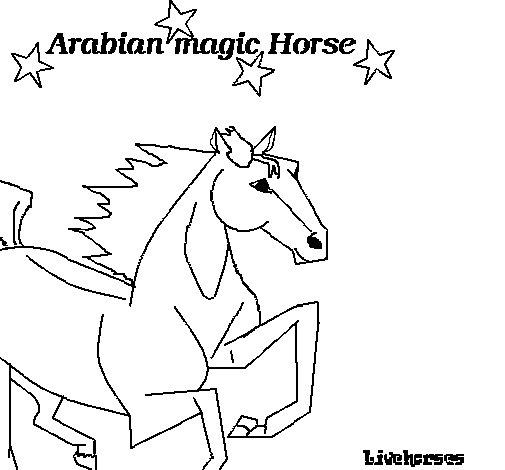 Dibujo de Caballo árabe para Colorear