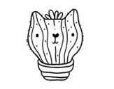 Dibujo de Cactus gato para colorear