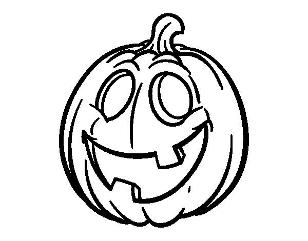 Dibujo de calabaza de halloween para colorear - Calabazas para imprimir ...