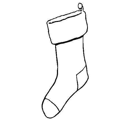 Dibujo de Calcetín sin regalos para Colorear