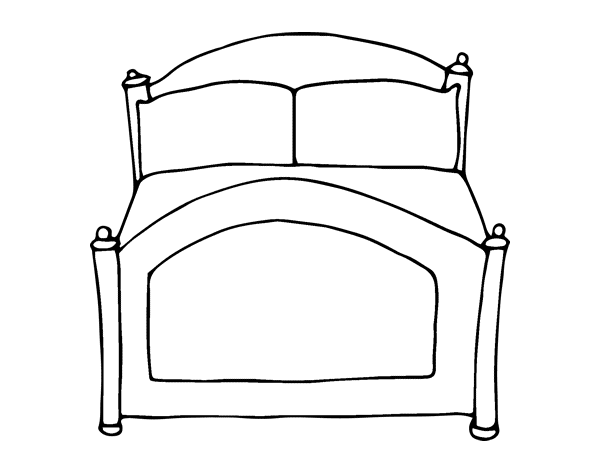 Dibujo de cama para colorear - Dibujos para cabeceros de cama ...