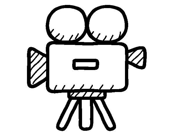 Dibujo de Cmara de vdeo para Colorear  Dibujosnet