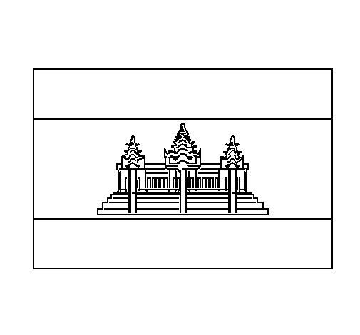 Dibujo de Camboya para Colorear