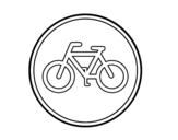 Dibujo de Camino reservado para ciclos para colorear
