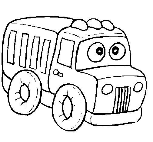 Dibujo de Camión 1 para Colorear