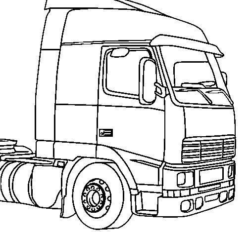 Dibujo de Camión 5 para Colorear