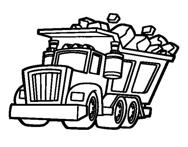 Dibujo de Camión cargado para Colorear