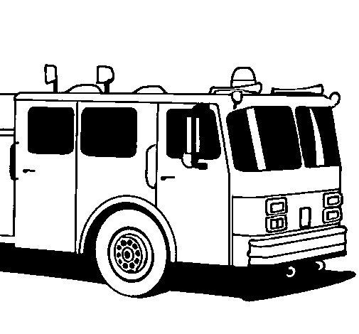 Worksheet. Dibujo de Camin de bomberos para Colorear  Dibujosnet