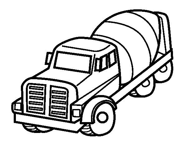 Dibujo de Camión hormigonera para Colorear