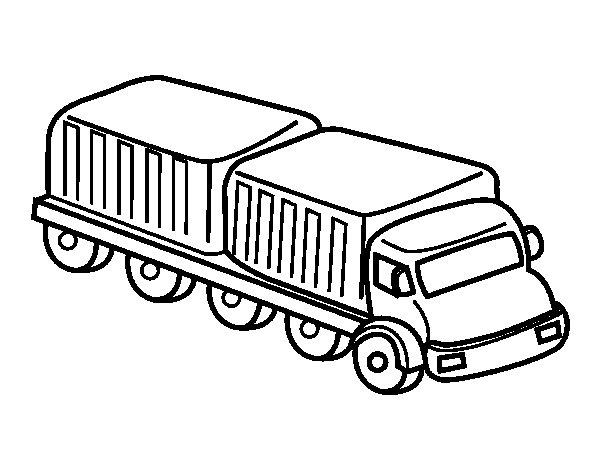 Dibujo de Camión largo para Colorear