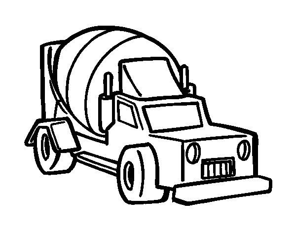 Dibujo de Camión malaxador para Colorear
