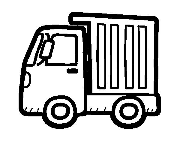 Dibujo de Camión pequeño para Colorear
