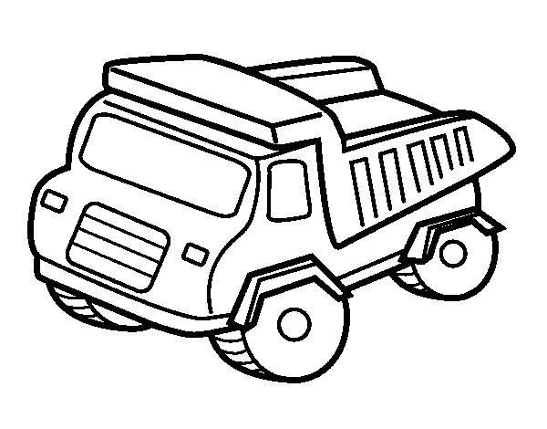 Dibujo de Camión volquete para Colorear