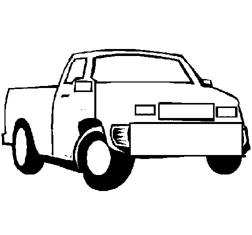 Dibujo de Camioneta 1 para Colorear