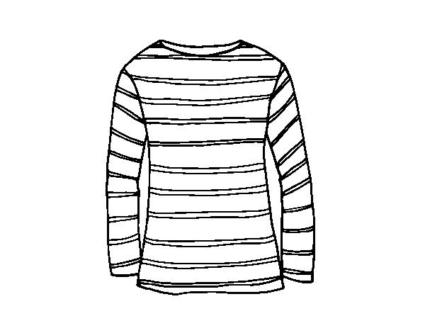 Desenho De Camisa: Dibujo De Camiseta De Manga Larga Para Colorear