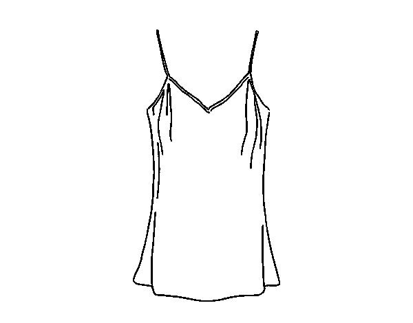 Desenho De Camisa: Dibujo De Camiseta De Tirantes Para Colorear