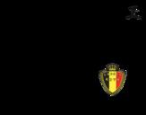 Dibujo de Camiseta del mundial de fútbol 2014 de Bélgica para colorear