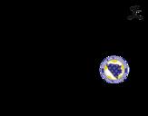 Dibujo de Camiseta del mundial de fútbol 2014 de Bosnia y Herzegovina para colorear