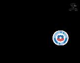 Dibujo de Camiseta del mundial de fútbol 2014 de Chile