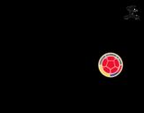 Dibujo de Camiseta del mundial de fútbol 2014 de Colombia para colorear