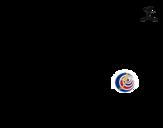 Dibujo de Camiseta del mundial de fútbol 2014 de Costa Rica para colorear