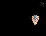 Dibujo de Camiseta del mundial de fútbol 2014 de Croacia para colorear