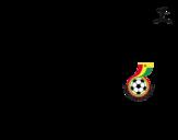 Dibujo de Camiseta del mundial de fútbol 2014 de Ghana para colorear