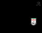 Dibujo de Camiseta del mundial de fútbol 2014 de Irán para colorear