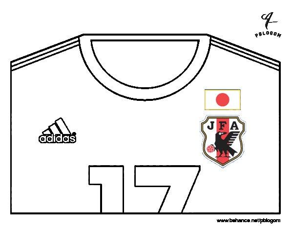 Dibujo de Camiseta del mundial de fútbol 2014 de Japón para Colorear