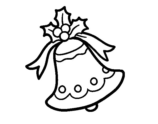 Dibujo de Campana navideña para Colorear Dibujos net