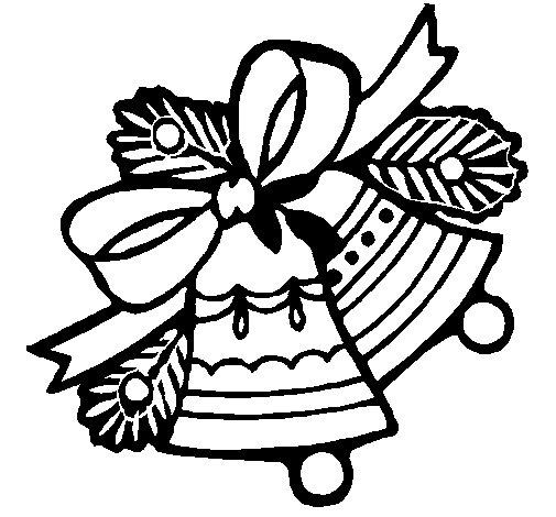 Dibujo de Campanas de navidad 1 para Colorear  Dibujosnet