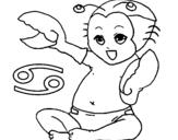 Dibujo de Cáncer para colorear