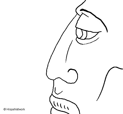 Dibujo de Cara  para Colorear